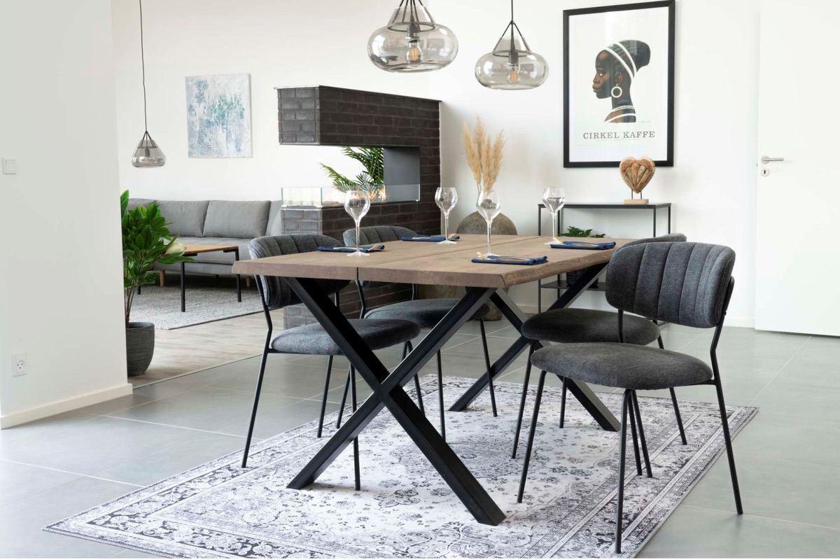 Norddan Dizajnový jedálenský stôl Jonathon 140 cm dymový dub
