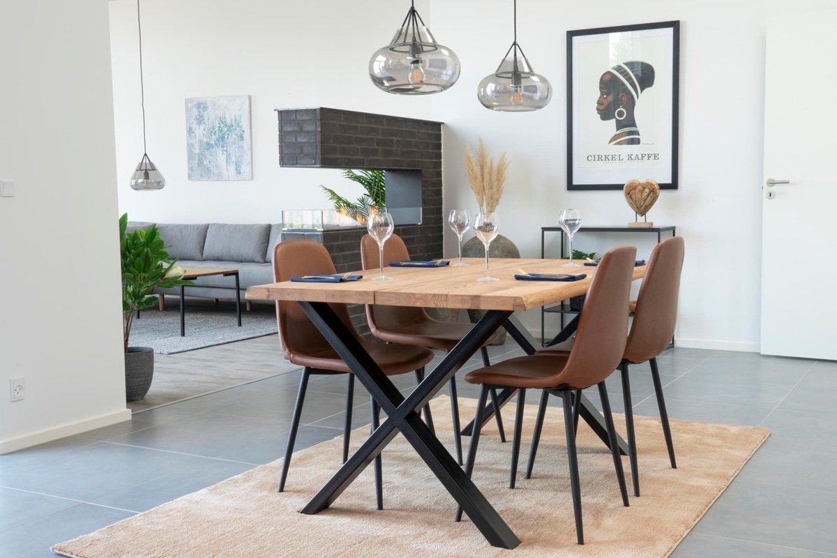 Norddan Dizajnový jedálenský stôl Jonathon 140 cm prírodný dub