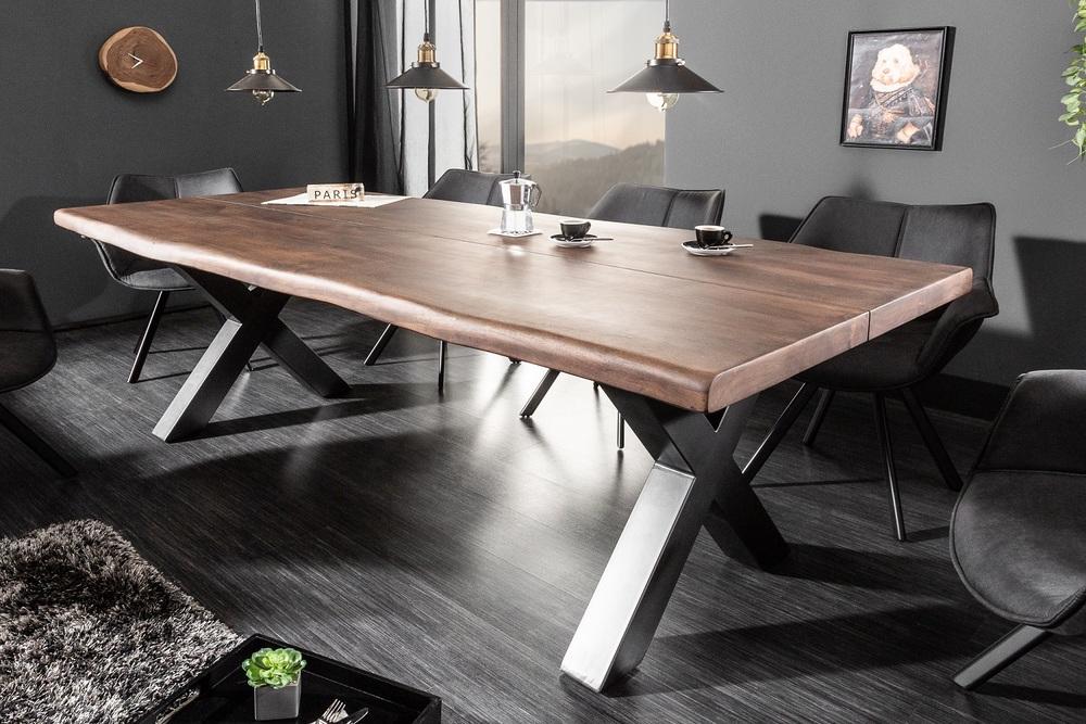 LuxD Dizajnový jedálenský stôl Lorelei 220 cm hnedý / akácia
