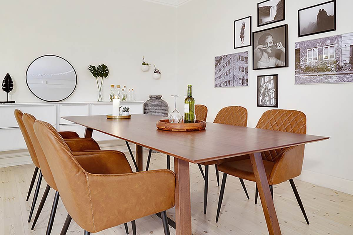 Norddan Dizajnový jedálenský stôl Miriam 240, orech