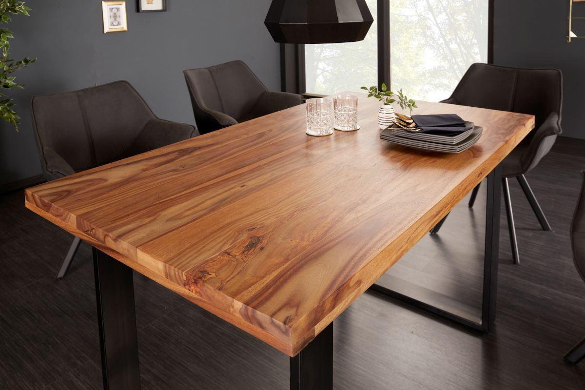 LuxD Dizajnový jedálenský stôl Thunder 120 cm sheesham