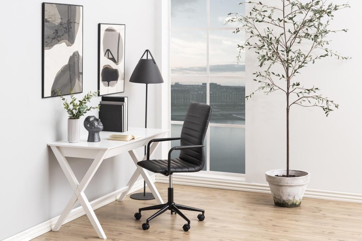 Dkton Dizajnový písací stôl Naroa 120 cm, biely