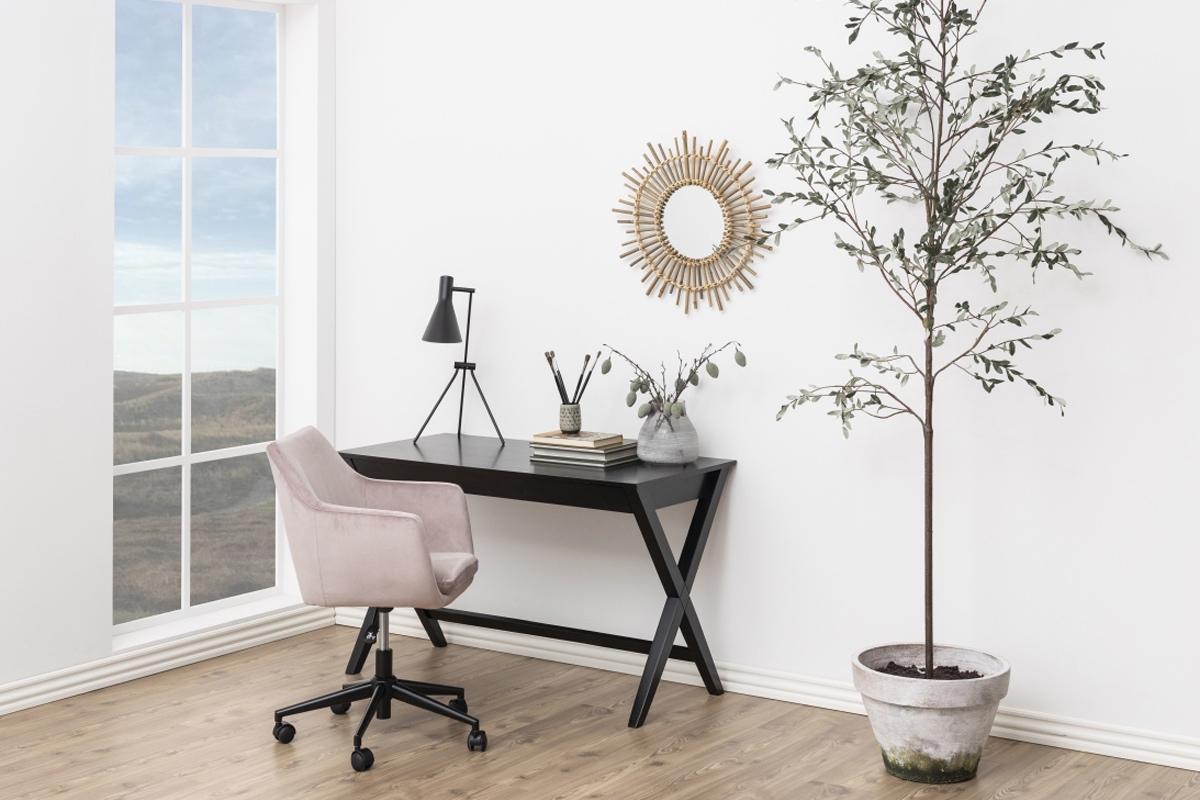 Dkton Dizajnový písací stôl Naroa 120 cm, čierny