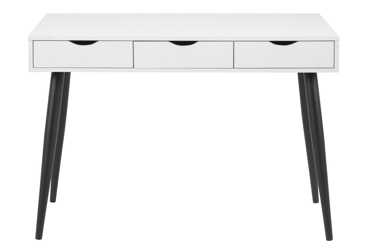 Dkton Dizajnový písací stôl Nature 110 cm, biely-čierny