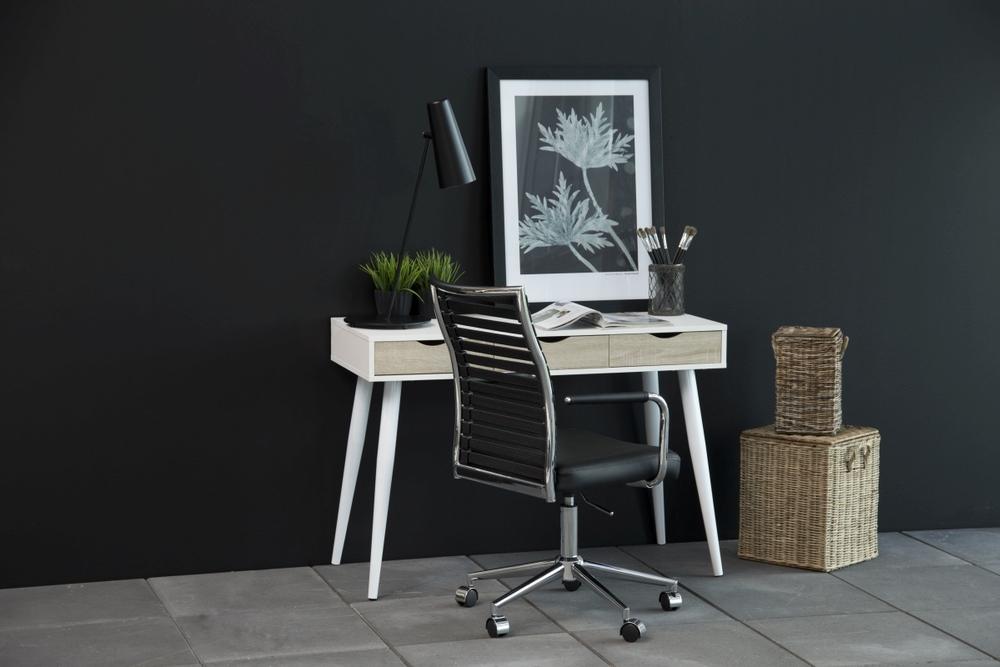 Dkton Dizajnový písací stôl Nature 110 cm, biely dub