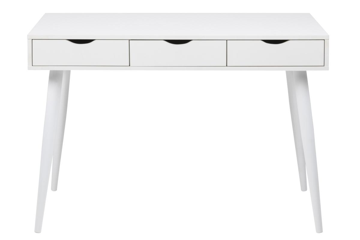 Dkton Dizajnový písací stôl Nature 110 cm, biely
