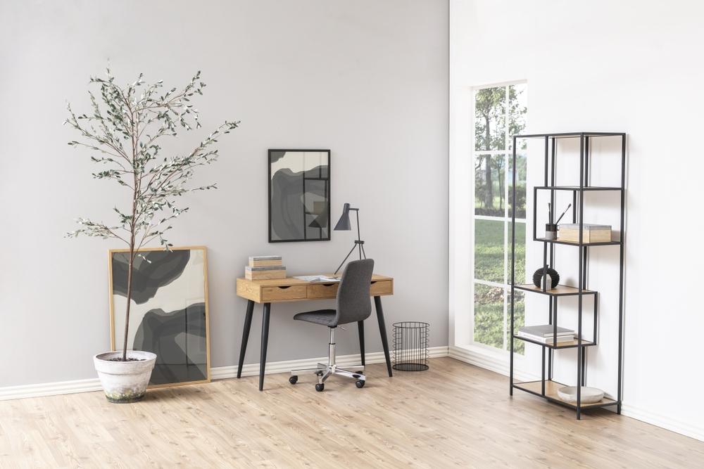 Dkton Dizajnový písací stôl Nature 110 cm, divoký dub