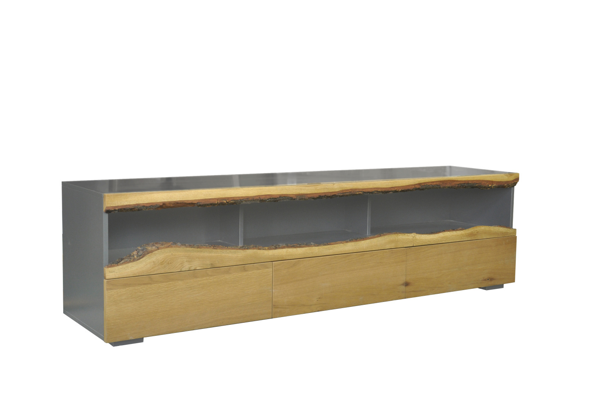 LuxD Dizajnový TV stolík Kira 180 cm dub - sivý