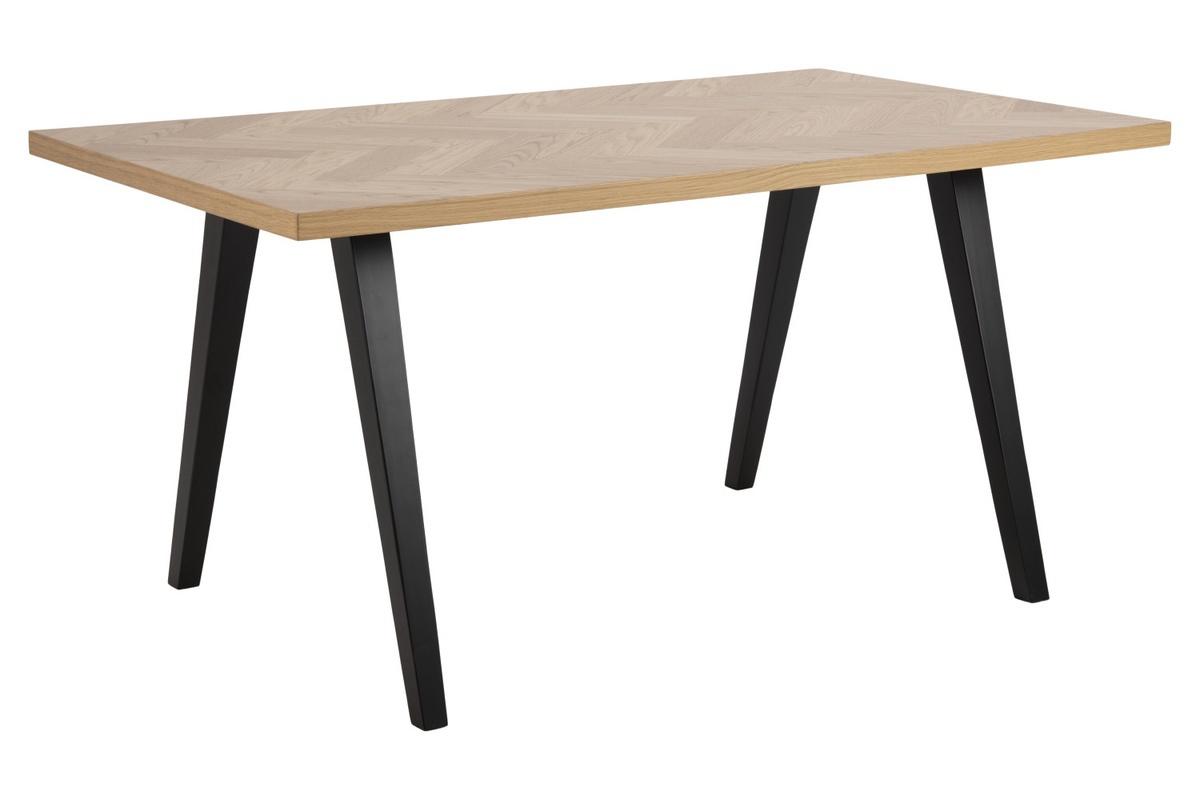 Dkton Dizajnový jedálenský stôl Cristopher 150 cm vzor dub