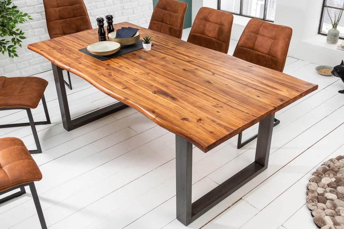 LuxD Dizajnový jedálenský stôl Evolution 140 cm akácia
