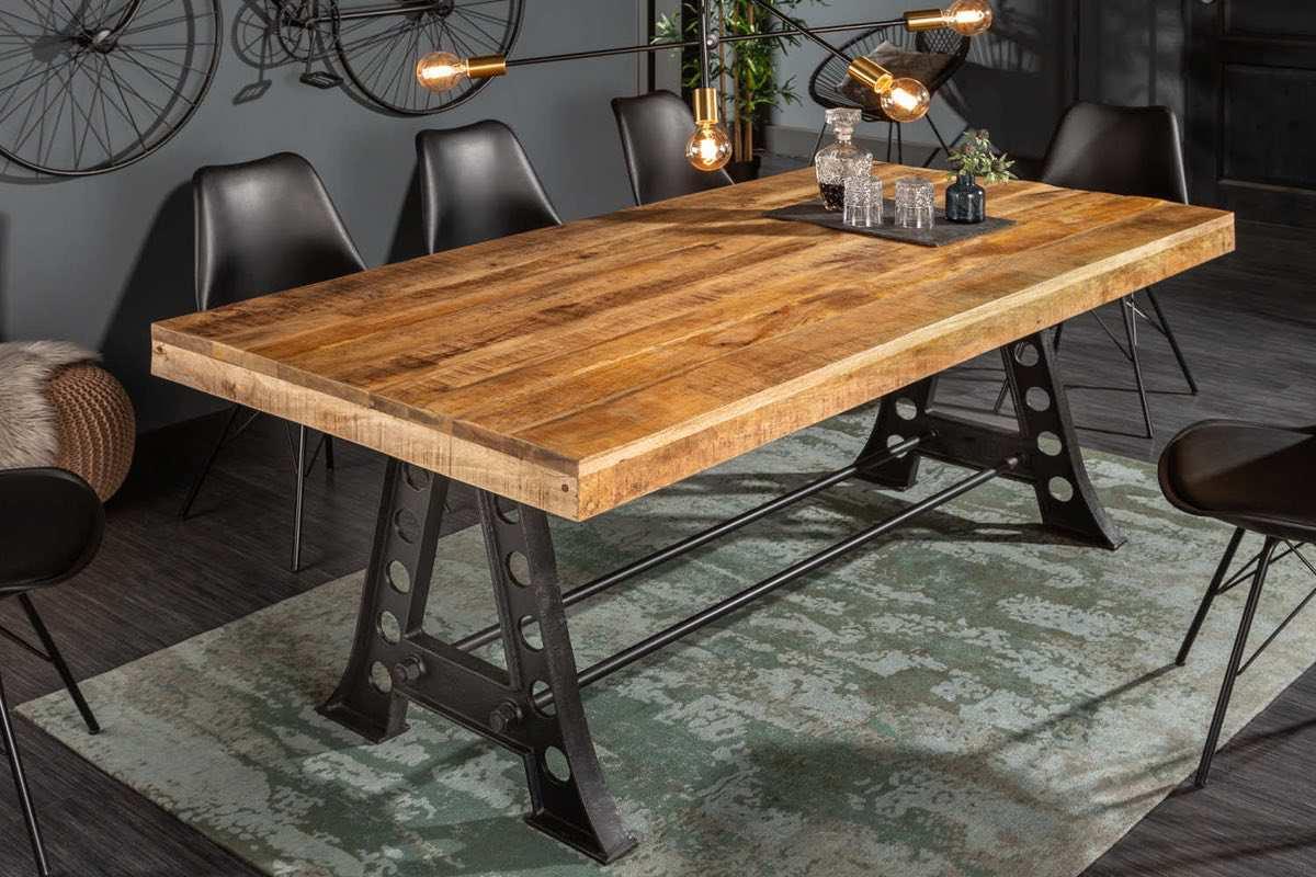 LuxD Dizajnový jedálenský stôl Stream 240 cm mango
