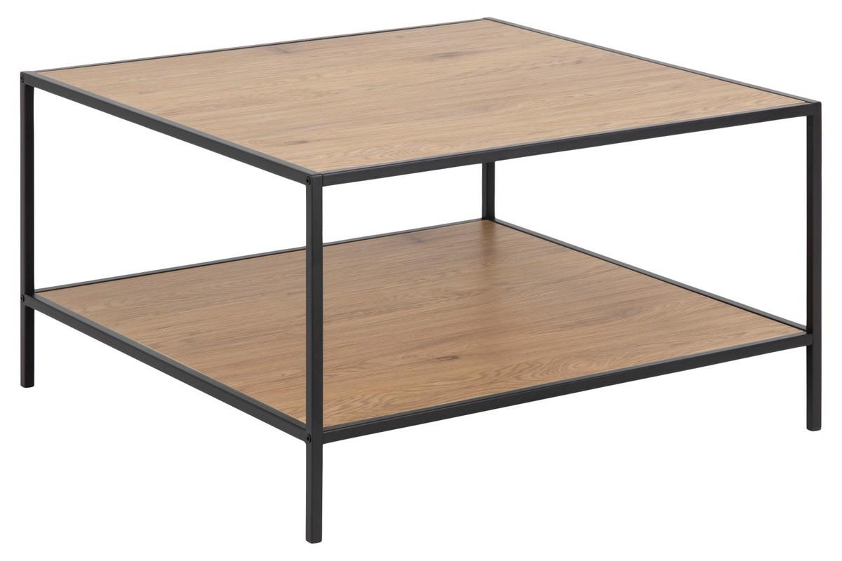 Dkton Dizajnový konferenčný stolík Naja 80 cm divý dub - otvorené balenie - RP