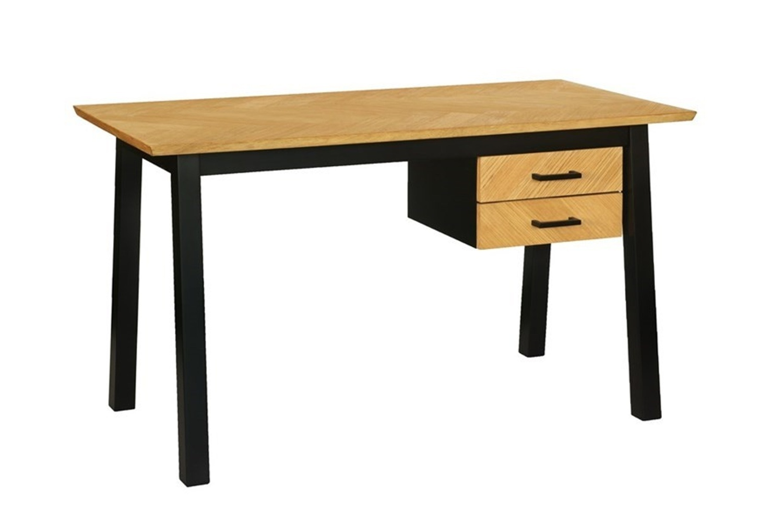 Dkton Dizajnový písací stôl Nazy 130 cm vzor dub