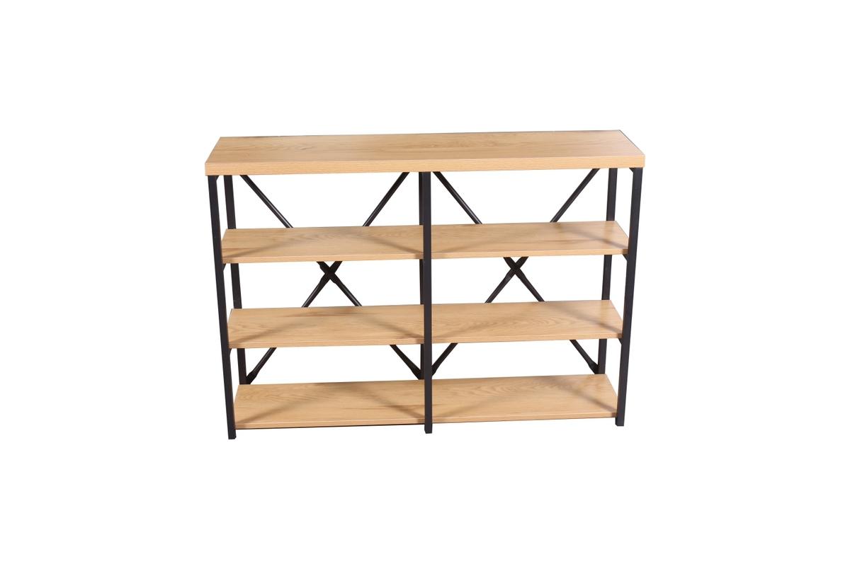 LuxD Dizajnový regál Kiana 110 cm vzor dub