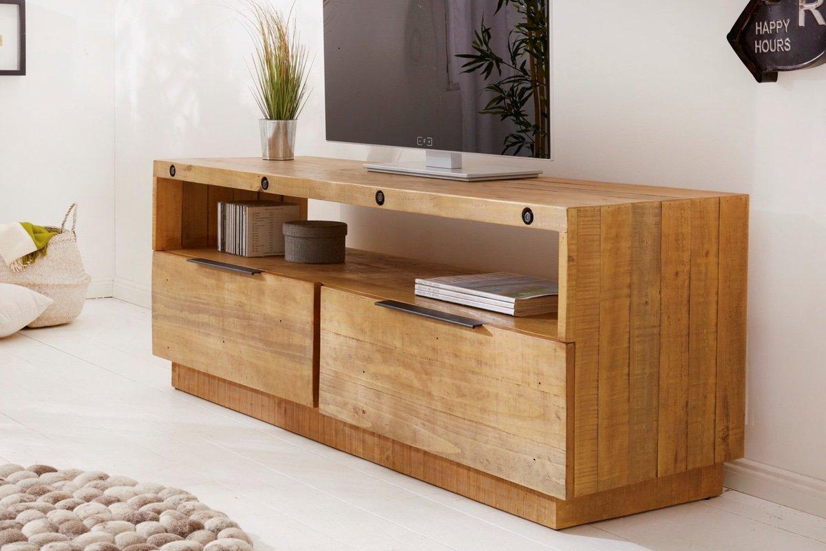 LuxD Dizajnový TV stolík Harlow 150 cm prírodný - borovica