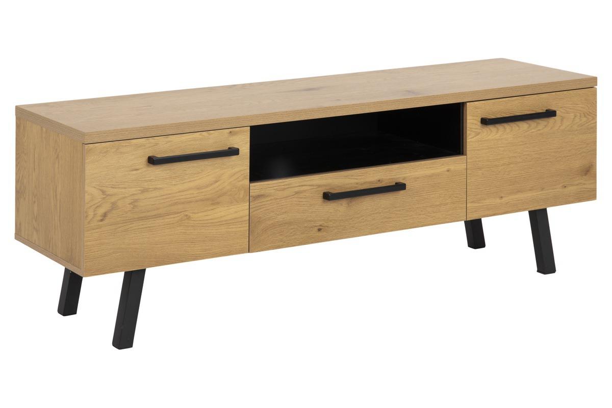 Dkton Dizajnový TV stolík Marlon 140 cm divý dub