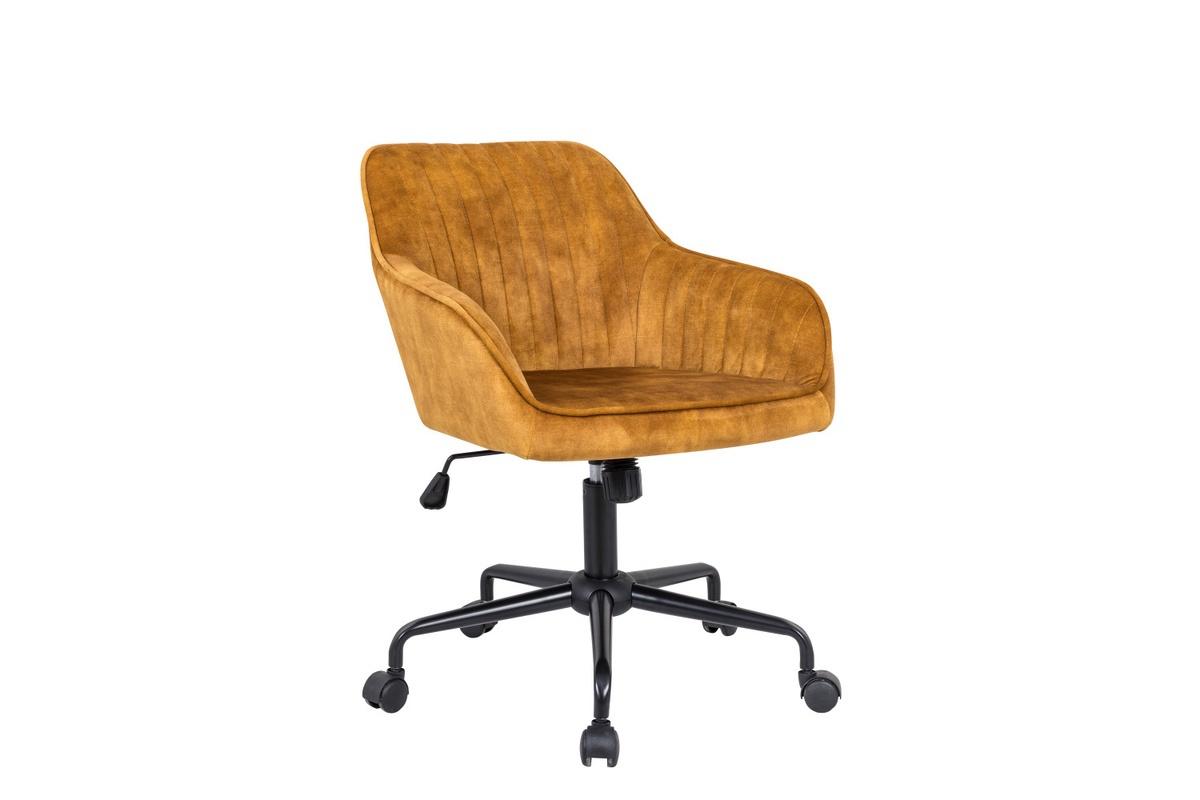 LuxD Dizajnová kancelárska stolička Esmeralda horčicový zamat