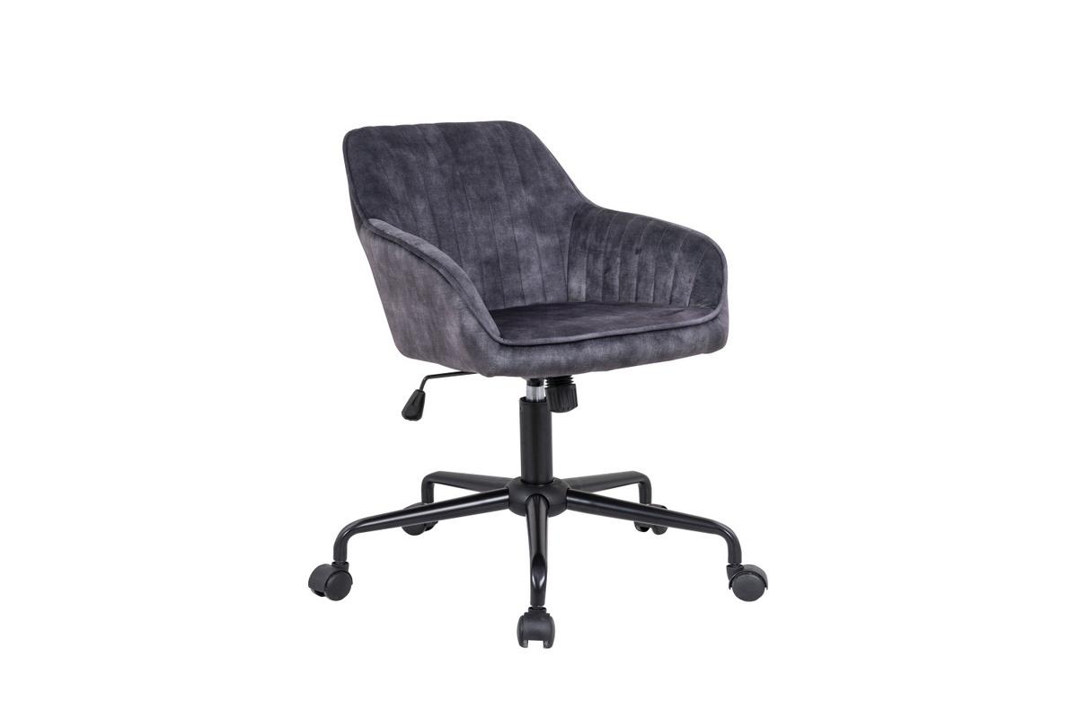 LuxD Dizajnová kancelárska stolička Esmeralda tmavosivý zamat