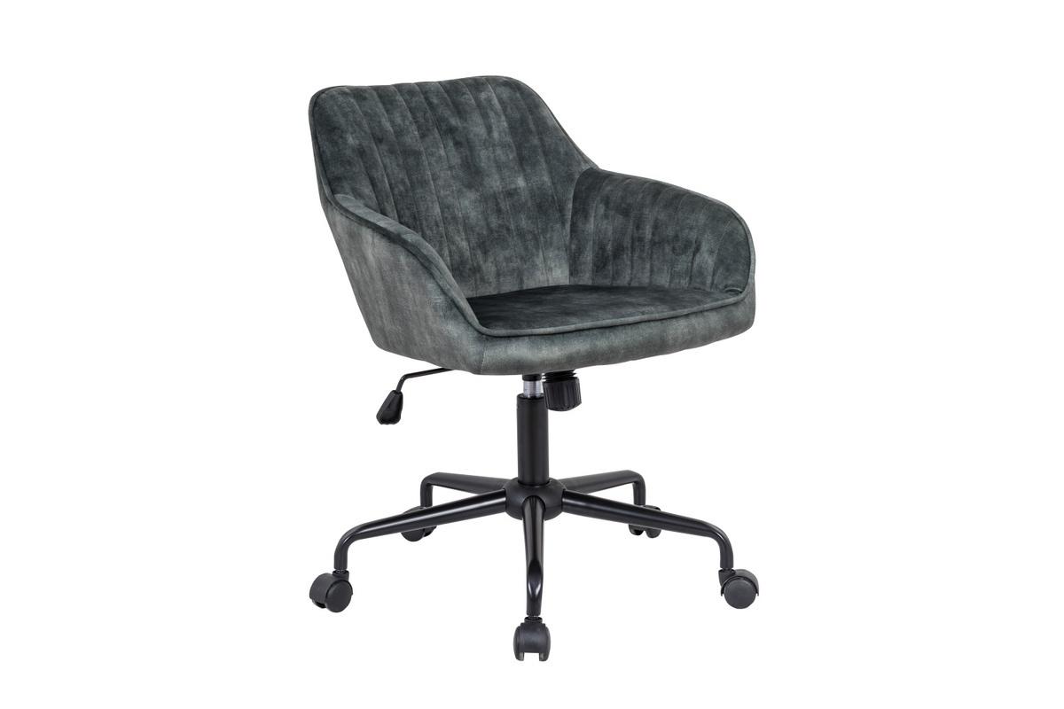 LuxD Dizajnová kancelárska stolička Esmeralda zelený zamat