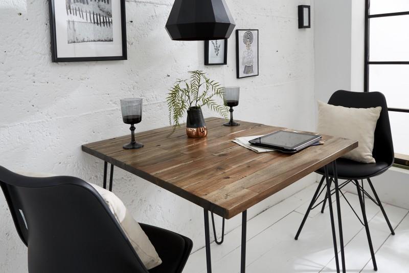 LuxD Jedálenský stôl Anaya, 80 cm, hnedý