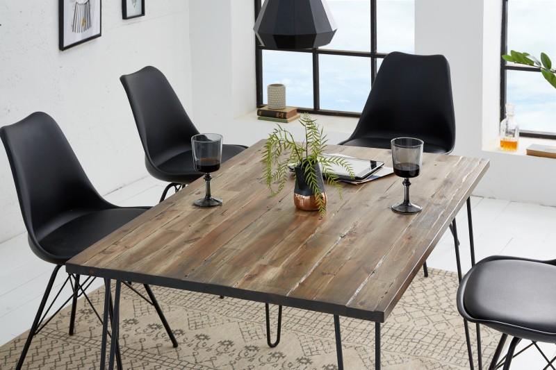 LuxD Jedálenský stôl Anaya, 120 cm, hnedý