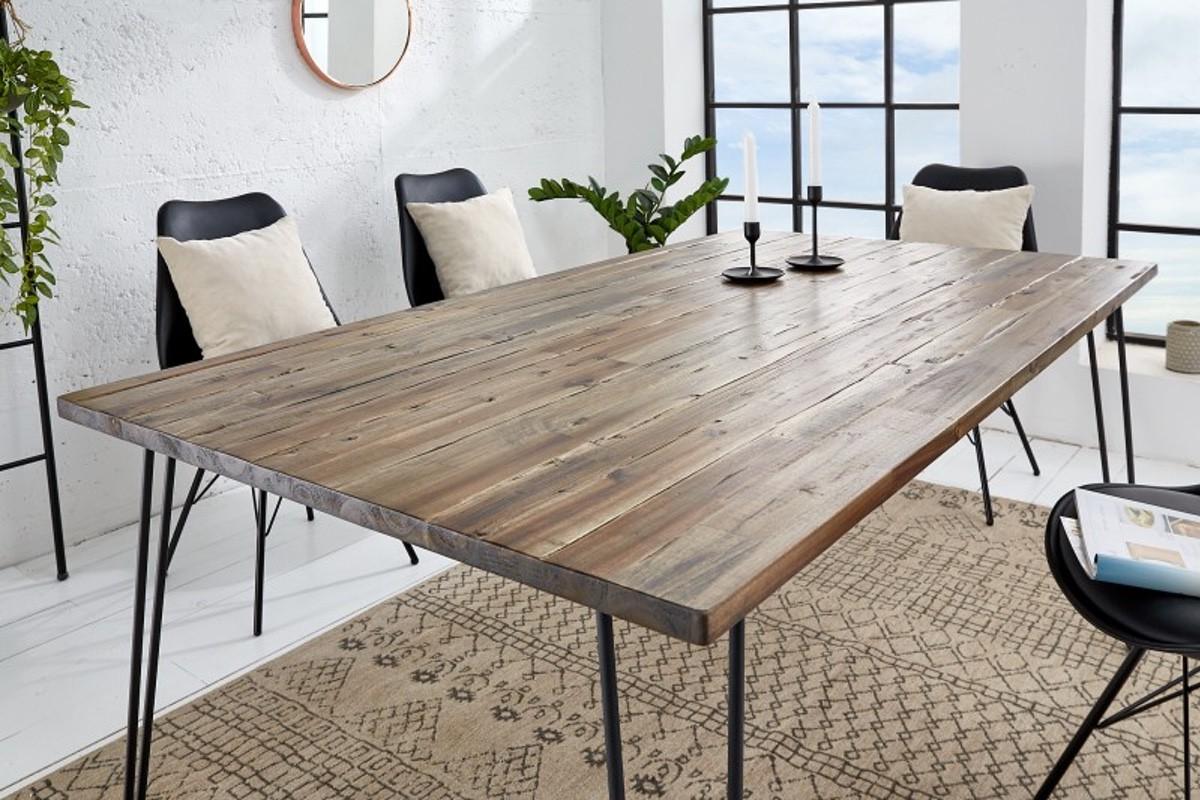LuxD Jedálenský stôl Anaya, 160 cm, hnedý