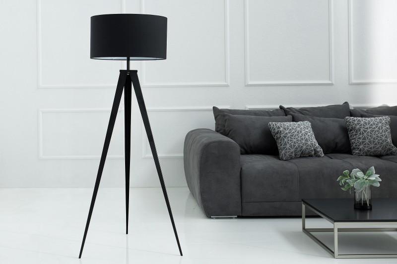 LuxD 20357 Stojanová lampa Dawson čierna Stojanové svietidlo