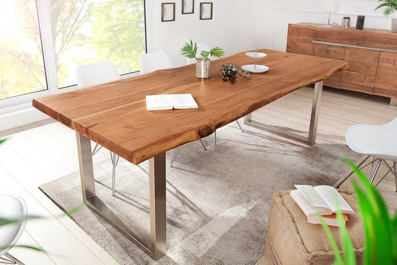 LuxD Luxusný jedálenský stôl z masívu Massive II New 200cm Honey