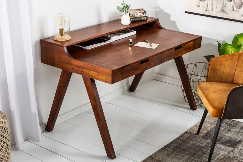 LuxD Dizajnový písací stôl Freddo 100 cm akácia