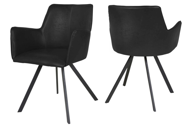Dizajnová jedálenská stolička Simone / čierna