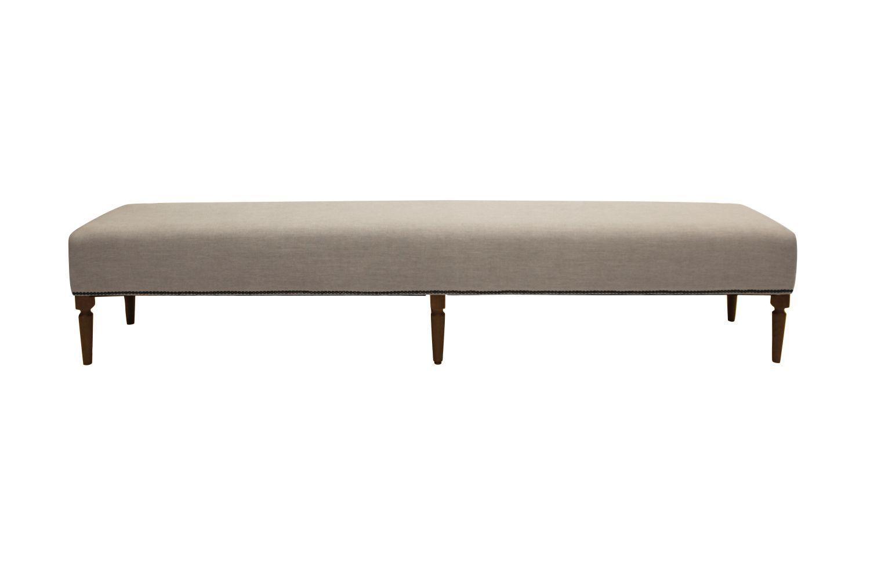 Dizajnová lavica Andrea 240 cm / kávová