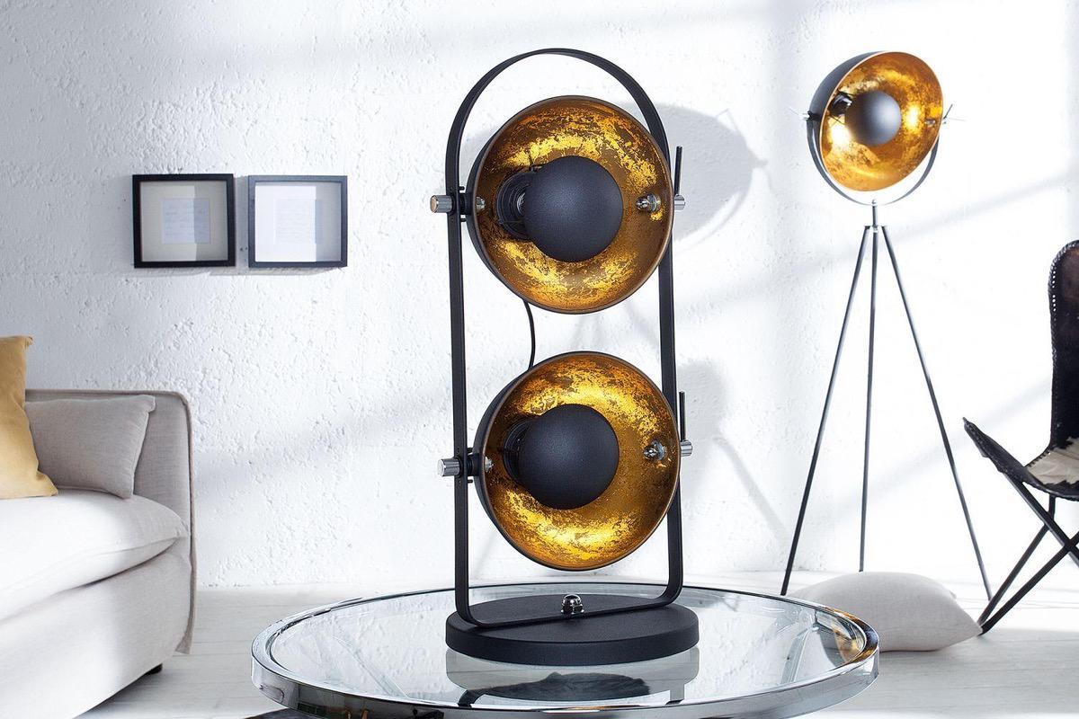 Stojanová lampa STAGE 2 / čierno zlatá