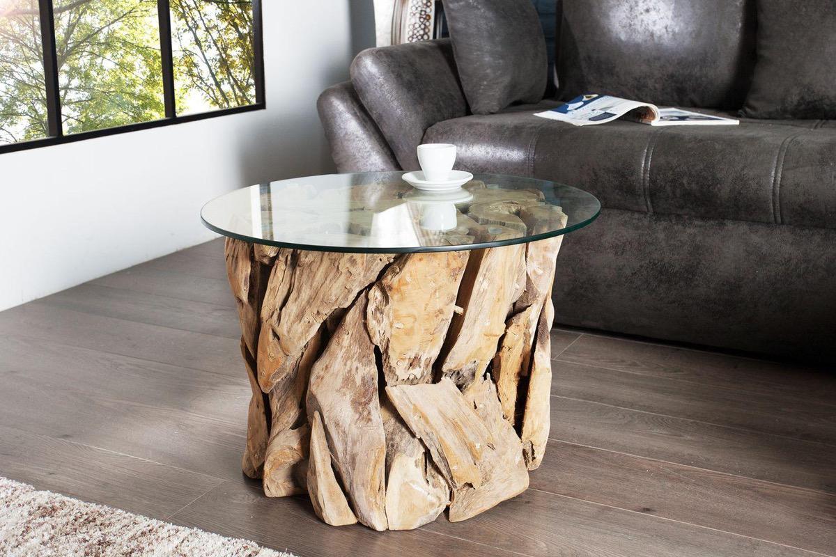 Konferenčný stolík Natural / teakové drevo