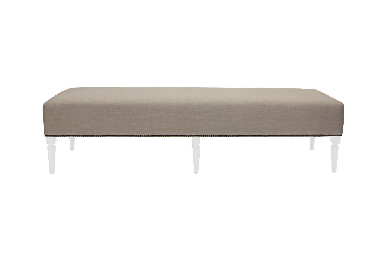 Dizajnová lavica Andrea 190 cm / biela