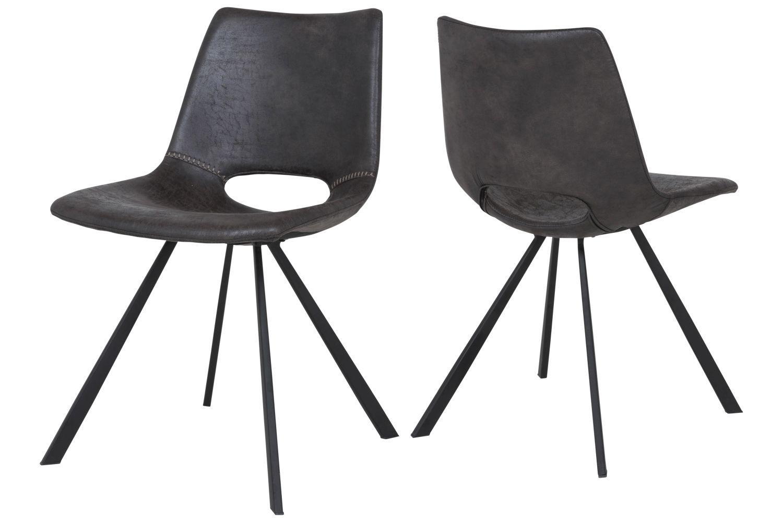 Dizajnová stolička Izabella / béžová-čierna