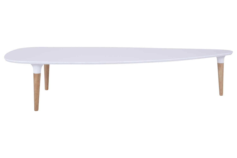 Konferenčný stolík Marley 156 cm / biela