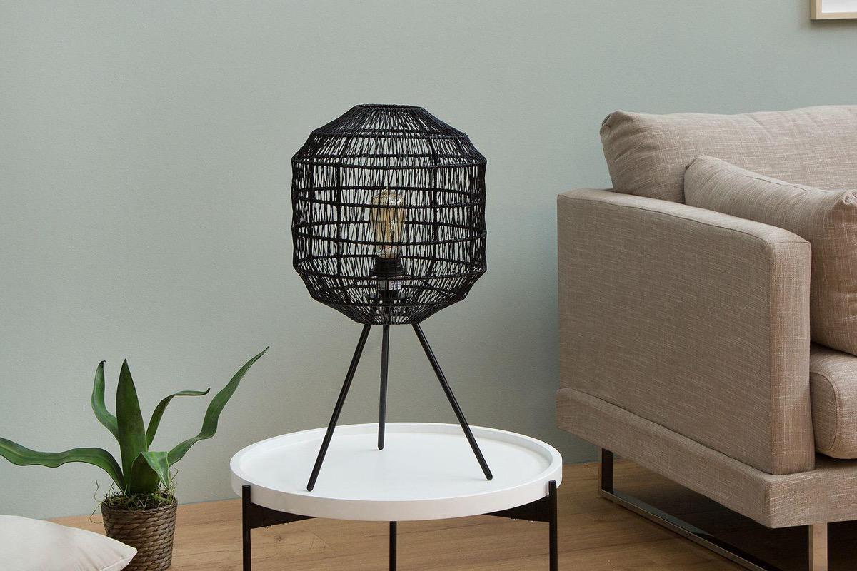Stolná lampa Hash / čierna