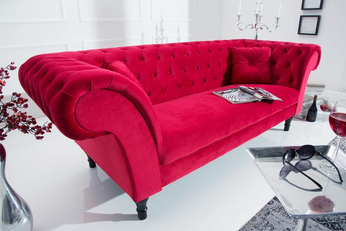 Dizajnová sedačka Rubby 225 cm / červená
