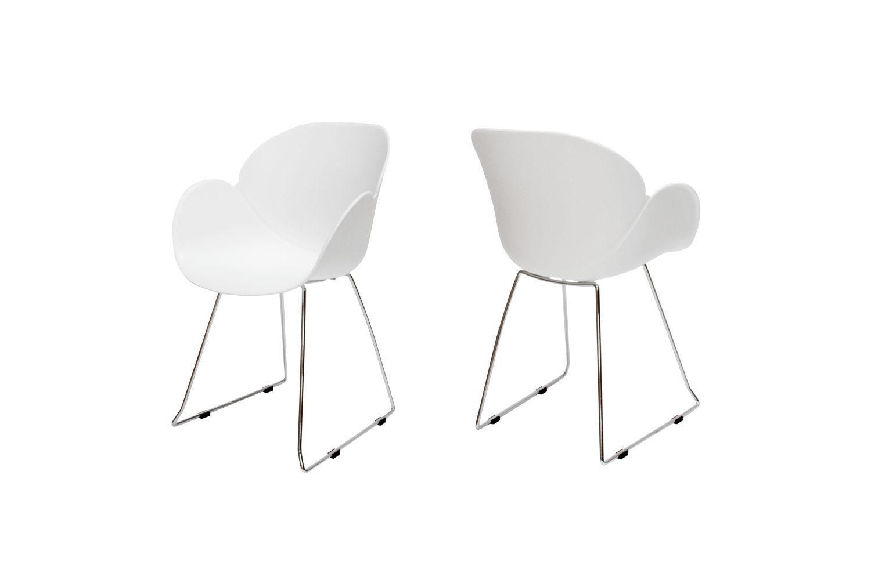 Dizajnová stolička Olive / biela