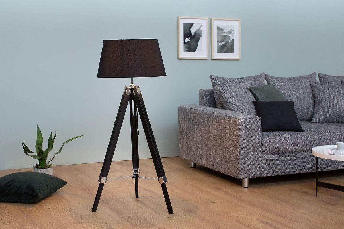 Stojanová lampa Rome 100-145 cm / čierna