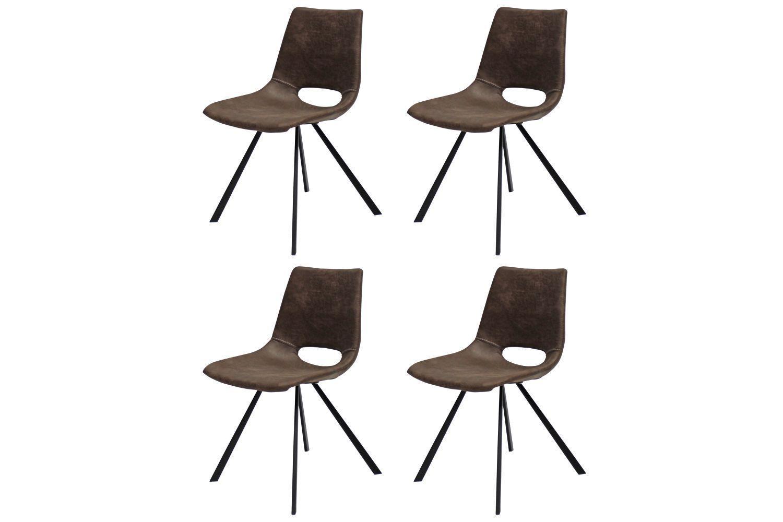 Dizajnová stolička Izabella / hnedá-čierna