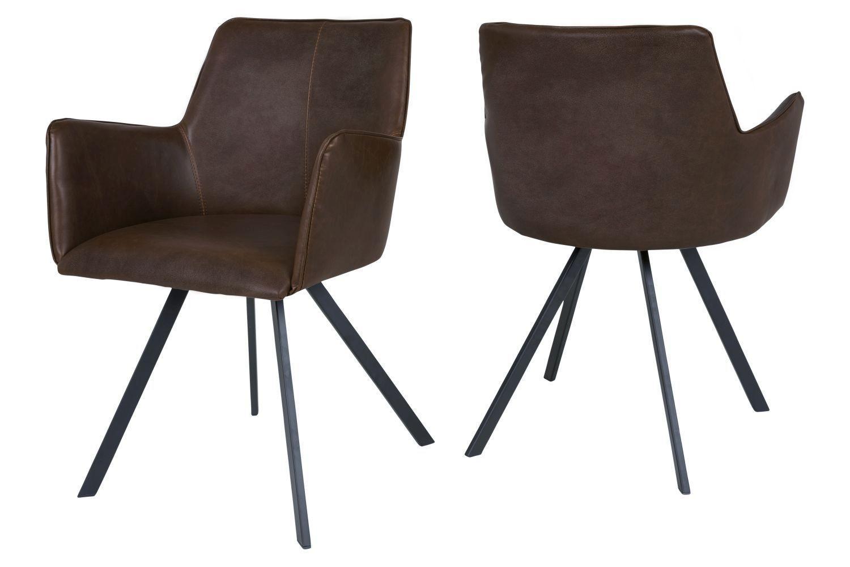 Dizajnová jedálenská stolička Simone / tmavo hnedá