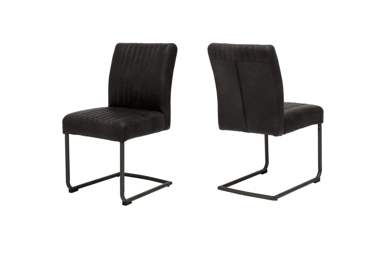 Dizajnová stolička Karla / čierna