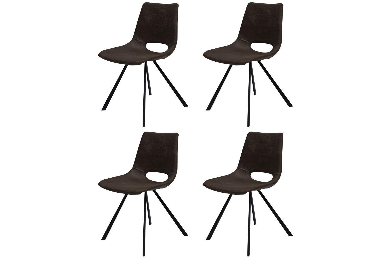 Dizajnová stolička Izabella / tmavo hnedá