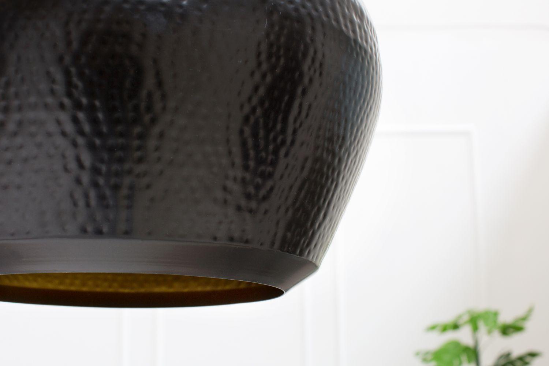 Závesná lampa Oriental  II / čierna - meď