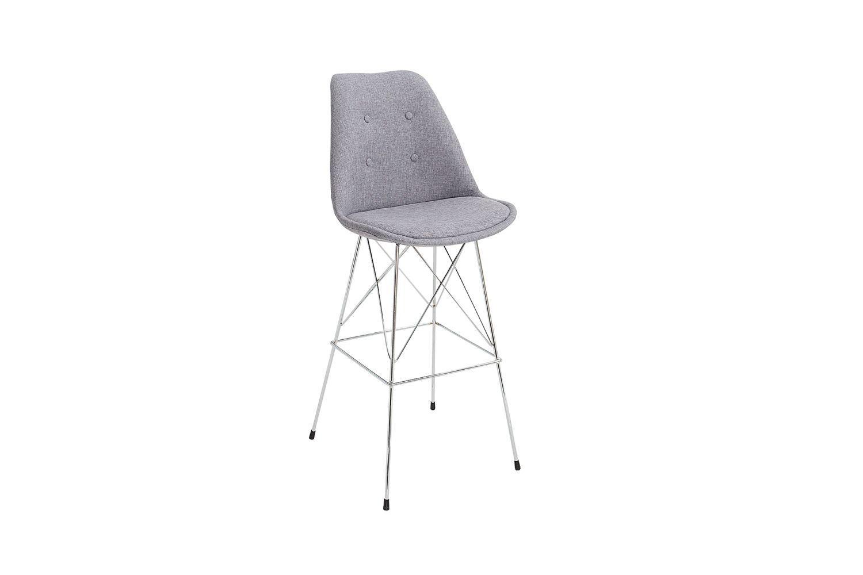 Dizajnová barová stolička Sweden retro / šedá