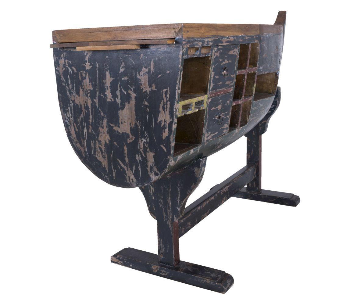 Barový stôl Boat / tmavo modrá