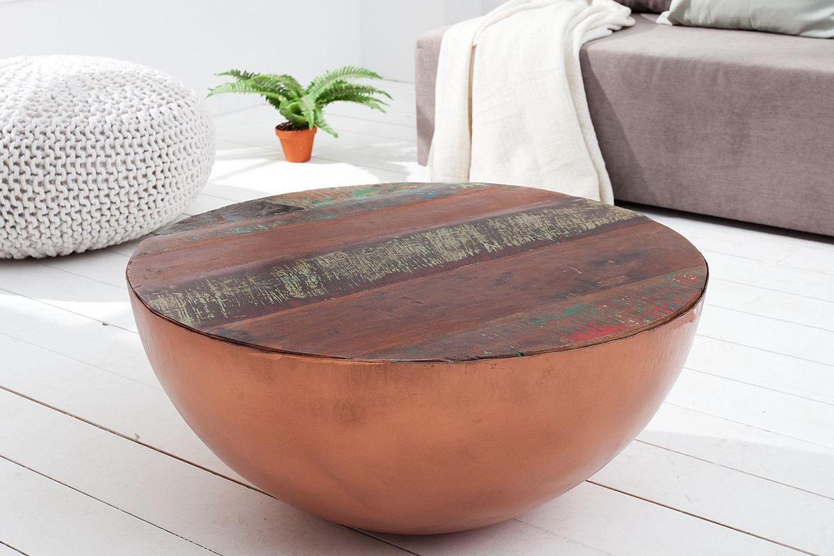 Konferenčný stolík Jacktar okrúhly / medený
