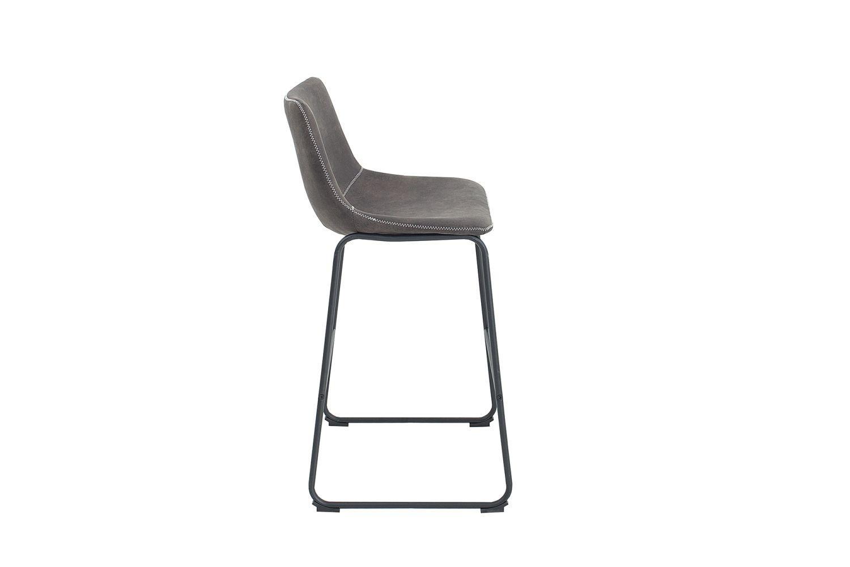 Dizajnová barová stolička Alba / vintage sivá