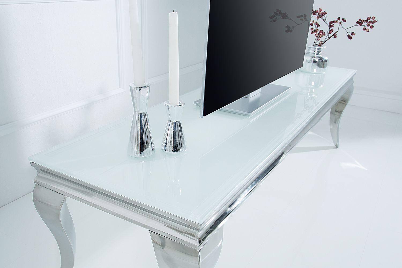 tv stol ky dizajnov tv stol k rococo 160 cm biela strieborn. Black Bedroom Furniture Sets. Home Design Ideas